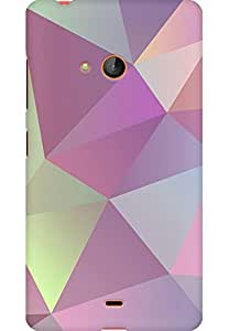 AMEZ designer printed 3d premium high quality back case cover for Microsoft Lumia 540 (geometric pattern )