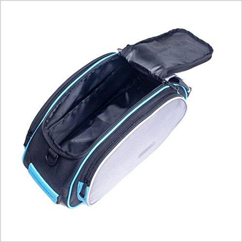 Huntvp Gepäckträgertasche Multifunktionale Fahrradtasche Outdoor hinten Sitz Trunk Bag Wasserdicht Packtasche Pannier Handbag mit Schultergurt Schwarz