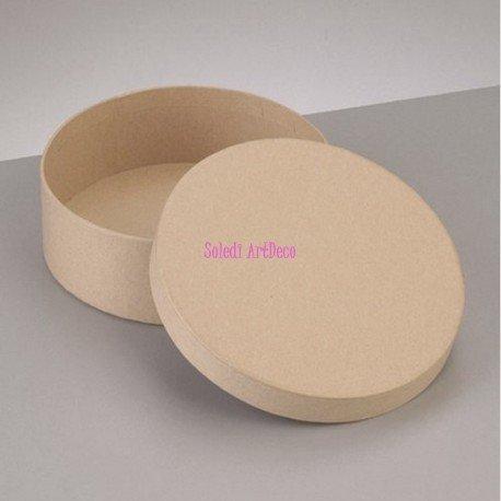 Boîte Ronde haute avec couvercle en carton, Diam. 12,5cm x Haut. 7cm, à décorer