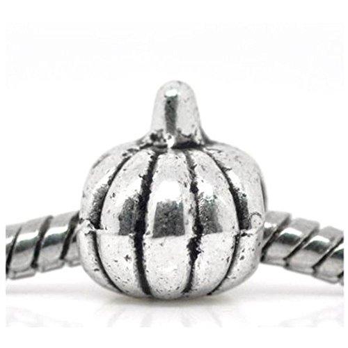 alloween inspiriert Kürbis Charm Bead passend für die meisten Charm-Armbänder für Frauen Mädchen ()