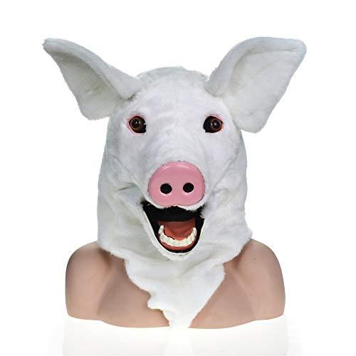 - Plüsch Schwein Maske