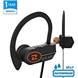 ZAAP® (USA) AQUA XTREME Bluetooth Waterproof Headphones/earphones + Carry Case, IP-X7 With 4.1 Bluetooth Technology Universal Compatibility Secure Fit For Sports, Gym, Running & Outdoor With Microphone [Black]