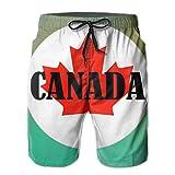 Photo de Men's Swim Trunks Canada Flag Quick Dry Board Shorts Bathing Suits Swimwear Volley Beach Trunks par BHWYK