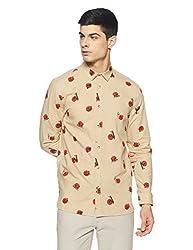 Jack & Jones Mens Casual Shirt (_5713447134393_Beige XX-Large_)