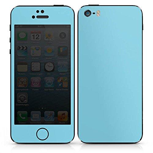 Apple iPhone 4s Case Skin Sticker aus Vinyl-Folie Aufkleber Türkis Blau Grün DesignSkins® glänzend