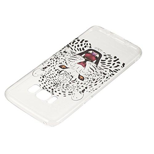 Coque Galaxy S8,Coque en Soft Silicone TPU Transparente pour Samsung Galaxy S8,Ekakashop Ultra Slim-fit Jolie Dolphins Jouer Dessin Antidérapant Coque de Protection TPU Flexible Souple Case Crystal Cl Tête de Tigre