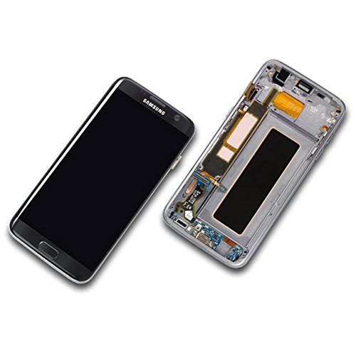 Lcd-cover-set (LCD Display Samsung G935F Galaxy S7 Edge Original full set Black - FHD Super AMOLED Curved LCD Display + Display Glas + Touchscreen + Elektronik)