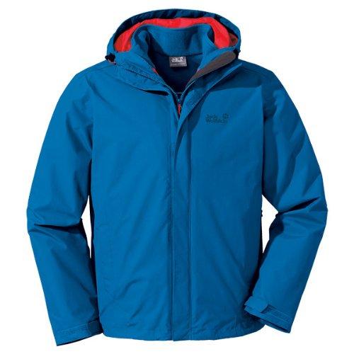Jack wolfskin veste 3 en 1 crush'n ice Bleu - bleu électrique