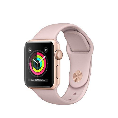 APPLE MQKW2B/A Watch Series 3 GPS 38mm Gold Aluminium Case with Pink Sand Sport Band - (Smart Tech > Smart Fitness)