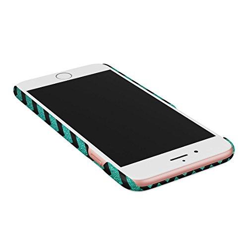 Coral Pink Chevron Glitter Pattern Tumblr Custodia Posteriore Sottile In Plastica Rigida Cover Per iPhone 6 Plus & iPhone 6s Plus Slim Fit Hard Case Cover Emerald Chevron