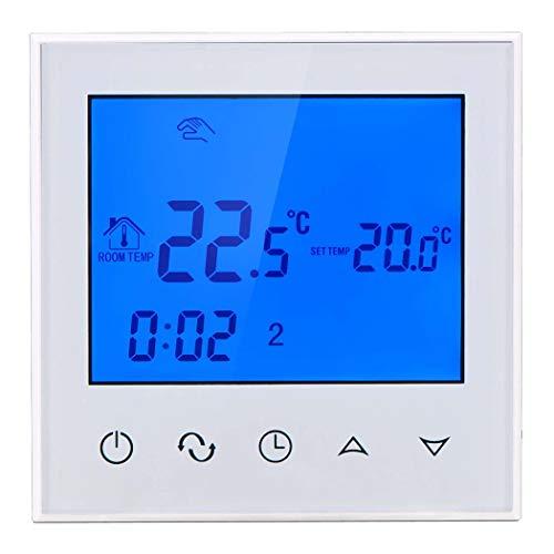 Zenshin WiFi Gas Kessel Thermostat programmierbarer LCD-Raum Temperatur-Controller, Free APP! Fernbedienung per Smartphone,WaterWarming,24V50/60Hz
