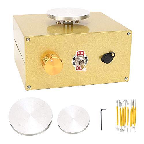 InLoveArts Mini-Töpferscheibe 6,5 cm & 10 cm Elektrische Töpfermaschine für Lehmarbeiten