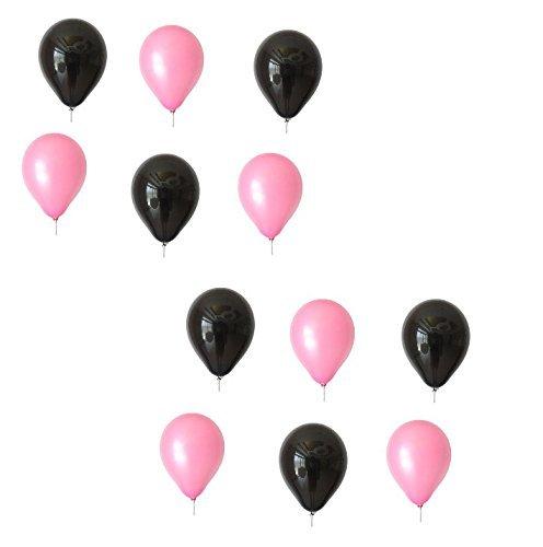 lons je 25 Schwarz und Rosa ca. Ø 28cm - EU WARE nach EN 71 - Ballons als Deko, Party, Fest - Farbe Schwarz & Pink - Helium geeignet - twist4® (Rosa Und Schwarze Ballons)