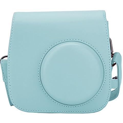 [Fujifilm Instax Mini 8/ Mini 9 Tasche] - ZWOOS Reise Kameratasche Gehäuse Taschen mit Schultergurt/Weinlese PU Leder für Fujifilm Instax Mini 8/ Mini 8S/ Mini 9 Tasche(ice blau)