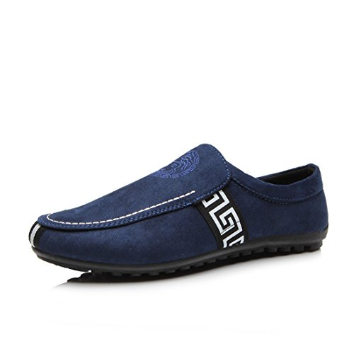 Men's Moccasins Breathable Slip On Casual Shoes blue