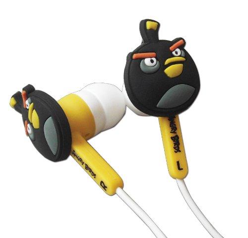 """In-Ear Kopfhörer \""""Angry Birds\"""" für Nintendo 3DS und gängige Musikplayer, schwarz"""