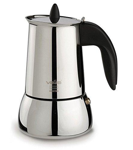 Valira - Cafetera Inox Isabella, apta para inducción, 4 tazas