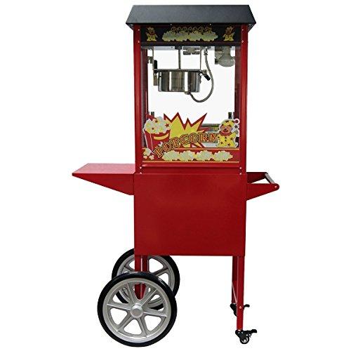 Machine à pop corn professionnelle avec chariot