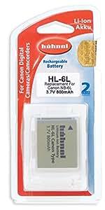Hahnel Batterie Li-Ion Equivalente canon NB-6L 3,7V 800 mAh
