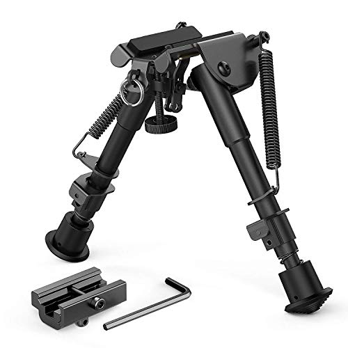 Spring Loaded Pop-up (6-9 Zoll Rifle Bipod, Adjustable Hunting Rifle Bipod mit Adapter, Quick Release Picatinny Rail und Spring Loaded Popup Legs)