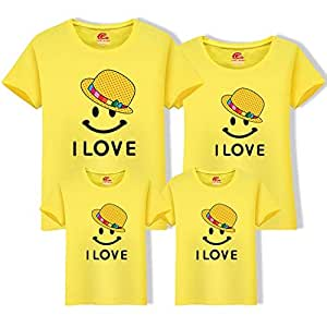 db1377d748d95 Image Unavailable. Image not available for. Colour: Mother Daughter Clothes  Father Son Short Sleeve Cotton T-Shirt Family Matching Outfits ...