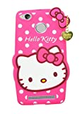 ERIT Girl's Silicon Cute Hello Kitty Prime Back Cover with Pendant for Xioami Redmi 3s (Pink)