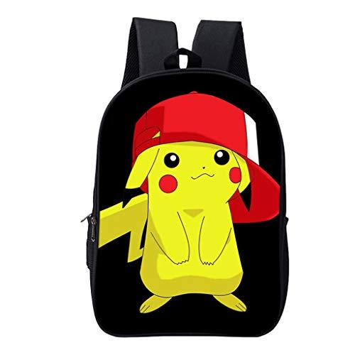 ksack Kinder,Pikachu Cartoon Muster Grundschule Rucksack Mädchen Junge,Karikatur Drucken Schultasche Rucksäcke Daypack Tasche Große Kapazität Backpack Sale (9,16 Zoll) ()
