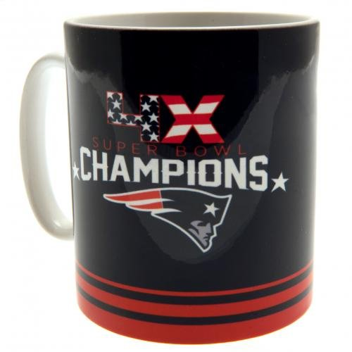 Nfl-champions Patriots (Forever Collectibles NFL New England Patriots Fan Mug 4X Champions Tasse Kaffeebecher)