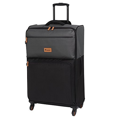 it luggage Duotone The Lite 4 Wheel Lightweight Suitcase Large Koffer, 78 cm, 86 liters, Grau (Charcoal Grey + Black)