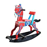 Sihi Creation Handcrafted Wooden Attractive Rocking Horse (Colour May Vary)