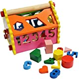 Shumee Wooden Number & Shape Sorting House (1.5 Years+) | Educational Toy | Addition, Subtraction & Time-Telling