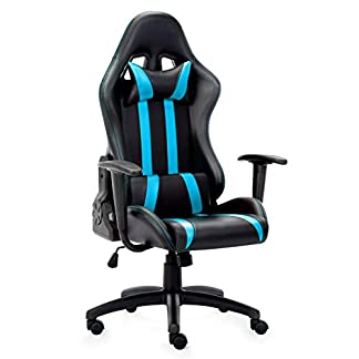 Silla Gamer, IntimaTe WM Heart Silla Gaming Silla Escritorio Giratoria, Altura Ajustable Respaldo Inclinable hasta 135 ° con Apoyabrazos Fijos