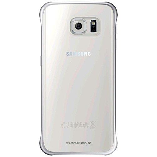 Samsung Clear Cover - Funda oficial para Samsung Galaxy S6 Edge, color plateado- Versión Extranjera