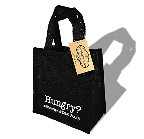 Ökologische Lunchtasche - Black Hungry? adjective (NEEDING FOOD)