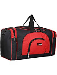 b8f8fefcc0b453 Zion Bag Men's and Women's Waterproof Polyester Lightweight 40 L Luggage  Travel Duffel Bag (Red