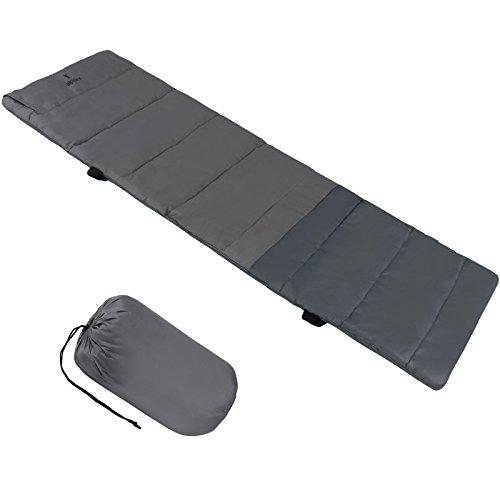 ALPIDEX universelle Feldbettauflage ALPIPAD in unterschiedlichen Größen mit Kissenfach, Fixierbändern und Packsack, Größe:190 x 64 cm