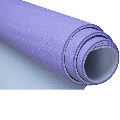 hochdichtem Memory Schaumstoffauskleidung, nicht giftig, latexfrei, PVC-frei Yoga Matte 100% TPE Material die neueste Technologie in Yoga, violett - Giftig Nicht Yoga-matte