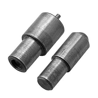CNBTR 39x16mm Hand Press Punch Tool for 3mm Eyelet 80# Heavy Duty Metal Grommet Die Mold Silver Black