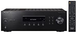 Pioneer Stereo Receiver mit Bluetooth, SX-10AE-B, Direct Energy Design mit 2x 100 Watt, 4 Line-Inputs, Tape- und Subwoofer-Ausgängen, Lautsprecher A/B, UKW-Radio mit 40 Speicherplätzen, schwarz