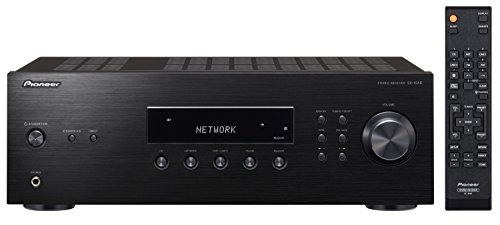 Pioneer Stereo Receiver mit Bluetooth, SX-10AE-B, Direct Energy Design mit 2x 100 Watt, 4 Line-Inputs, Tape- und Subwoofer-Ausgängen, Lautsprecher A/B, UKW-Radio mit 40 Speicherplätzen, schwarz - 6-kanal-verstärker Pioneer
