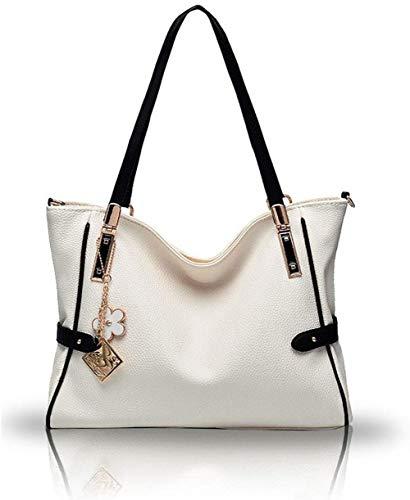 Wdmumu borse tracolle borse di cuoio da donna borse sacchetti di spalla di moda per donna,bianca