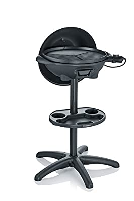 SEVERIN PG 8541 Barbecue-Grill (2.000W, Standgrill, Grillfläche (Ø 41cm)) schwarz