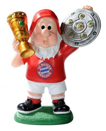 "FC Bayern Gartenzwerg ""Double"""