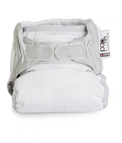 Close Pop-In + Snowball Bamboo Single Nappy (30 Months, White) by Close Pop-in