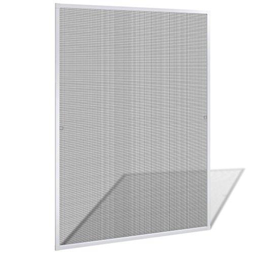 vidaXL Insektenschutz Fenster 120x140 cm Alu Rahmen Fliegengitter Mückengitter