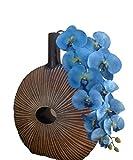 Orchideenzweig 106 cm XXL blau Seidenblumen Kunstblumen künstliche Orchidee wie echt