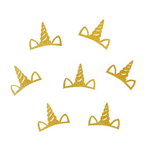 Oblique Unique® Einhorn Konfetti mit Glitzer Effekt Glitter für Kinder Geburtstag Deko Basteln Scrapbooking - Farbe wählbar (Gold) - Gold Glitter Scrapbooking