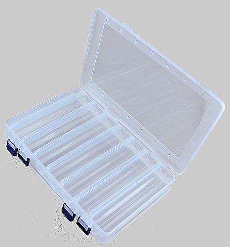 Plastikbox Angelbox Köderbox zubehörbox Angel Box TACKLEBOX für Fische, Zubehör, Modell und Große:JCB203 2-Seitig 27.5x18.5x5cm
