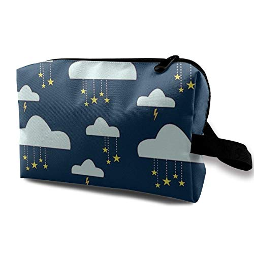 Travel Makeup Cosmetic Bag Brush Pouch Stars Clouds Zipper Pen Organizer Carry Case cosmetic travel bag - Cowgirls Supplies Party