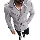 IMJONO Männer Herbst Winter Schlanke Passform Langen Ärmel Anzug Top Jacket (EU-44/CN-S,Grau)